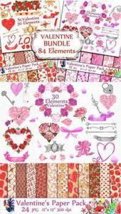 CreativeMarket - BUNDLE-Valentine's Day clipart