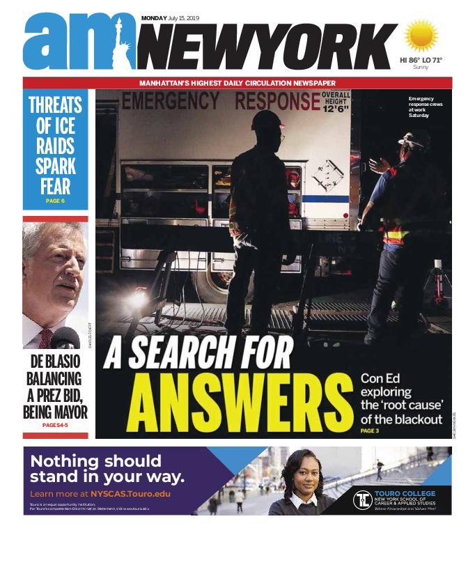 AM New York - July 15, 2019