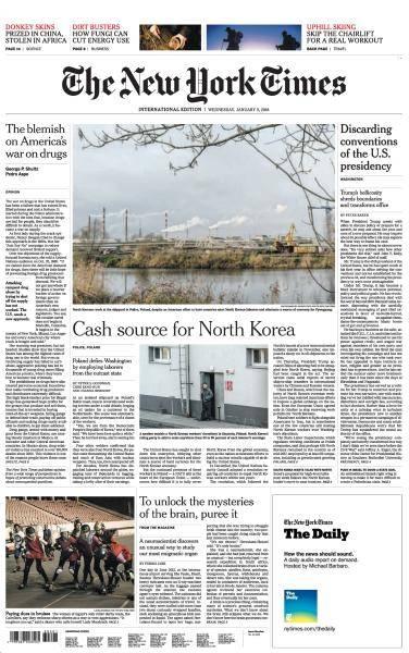 International New York Times - 3 January 2018