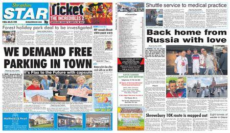 Shropshire Star Shrewsbury Edition – July 13, 2018