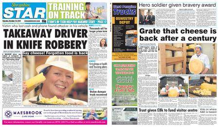 Shropshire Star Shrewsbury Edition – October 24, 2017