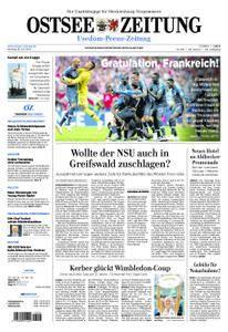 Ostsee Zeitung Wolgast - 16. Juli 2018