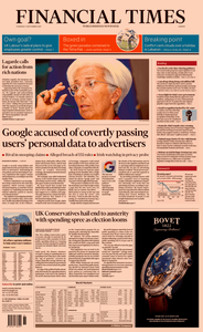 Financial Times Europe – 05 September 2019