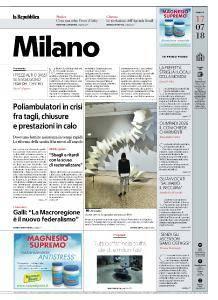 la Repubblica Milano - 17 Luglio 2018