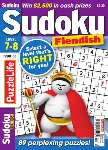 PuzzleLife Sudoku Fiendish - Issue 33 - January 2019