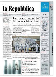 la Repubblica - 11 Marzo 2018