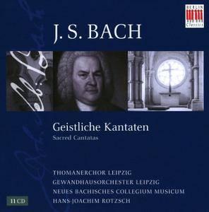 Hans-Joachim Rotzsch, Thomanerchor Leipzig, Gewandhausorchester Leipzig - Bach: Geistliche Kantaten (11CD) (2008)