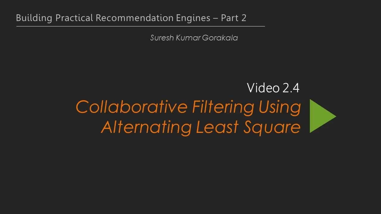 Building Practical Recommendation Engines – Part 2