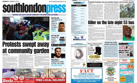 South London Press – October 30, 2018