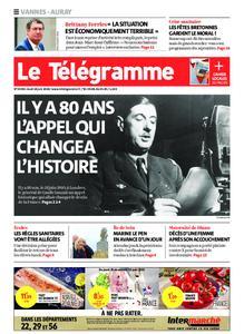 Le Télégramme Auray – 18 juin 2020