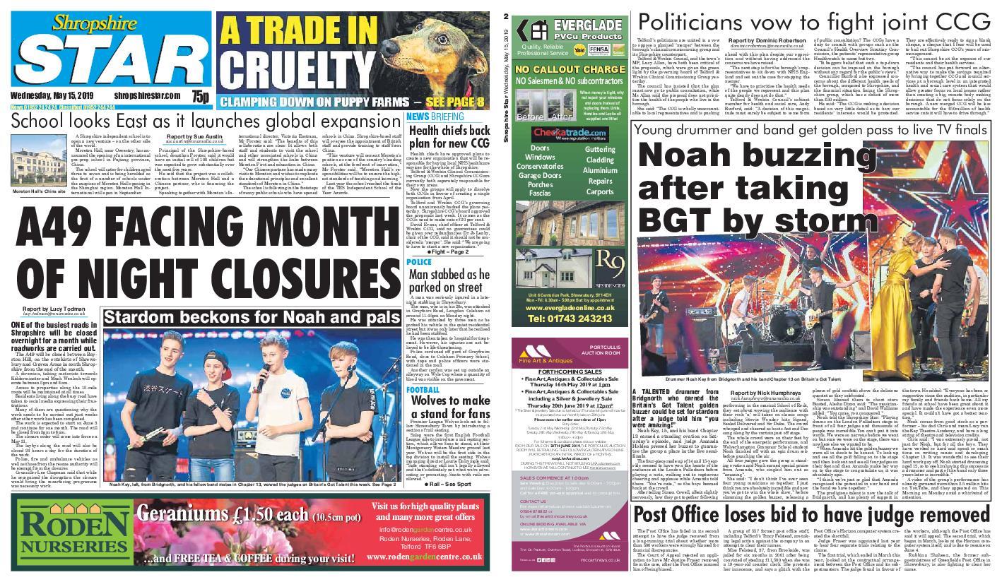 Shropshire Star Shrewsbury Edition – May 15, 2019