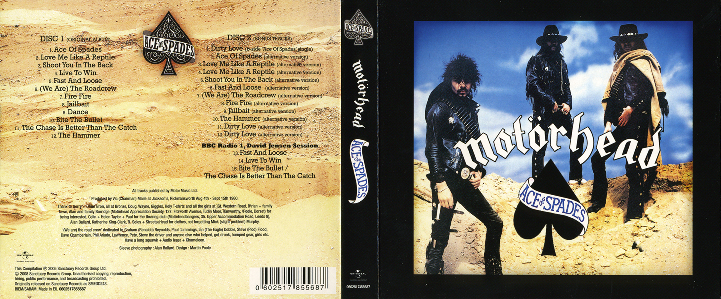 Motörhead - Ace Of Spades (1980) [2CD, Deluxe Edition