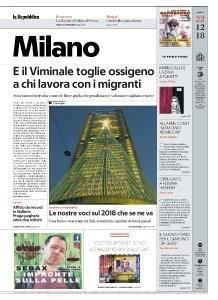 la Repubblica Milano - 22 Dicembre 2018
