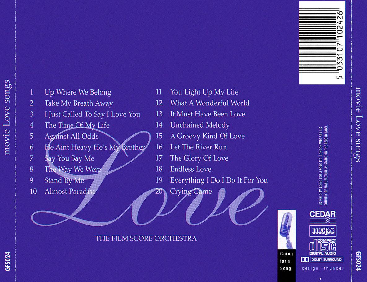 The Film Score Orchestra (VA) - Movie Love Songs (1997)