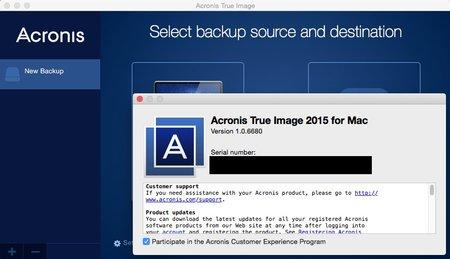 Acronis True Image 2015                                                              for Mac v1.0.6680 Mac OS X