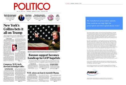 Politico – January 04, 2018