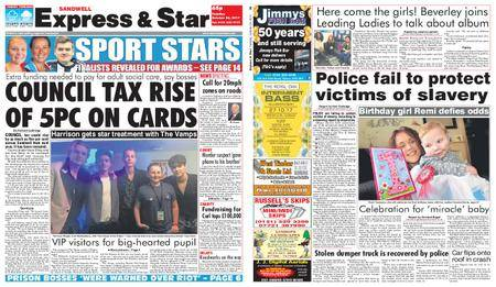 Express and Star Sandwell Edition – October 24, 2017