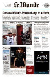 Le Monde du Dimanche 30 Septembre et Lundi 1 Octobre 2018
