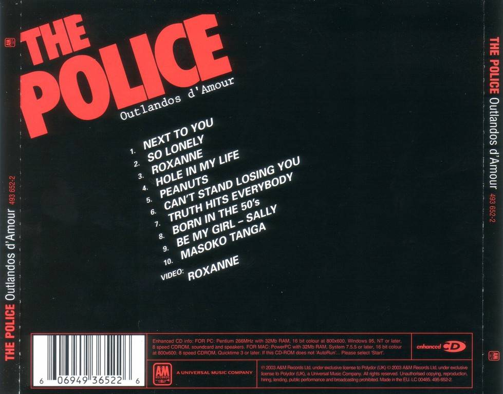 The Police Outlandos D Amour 1978 2003 Reissue