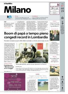 la Repubblica Milano - 7 Marzo 2019