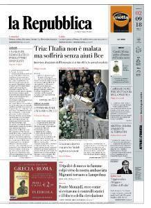 la Repubblica - 2 Settembre 2018