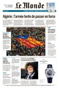 Le Monde du Dimanche 20 et Lundi 21 Octobre 2019