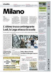 la Repubblica Milano - 14 Settembre 2018