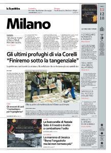la Repubblica Milano - 15 Dicembre 2018