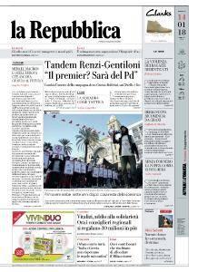 la Repubblica - 14 Gennaio 2018
