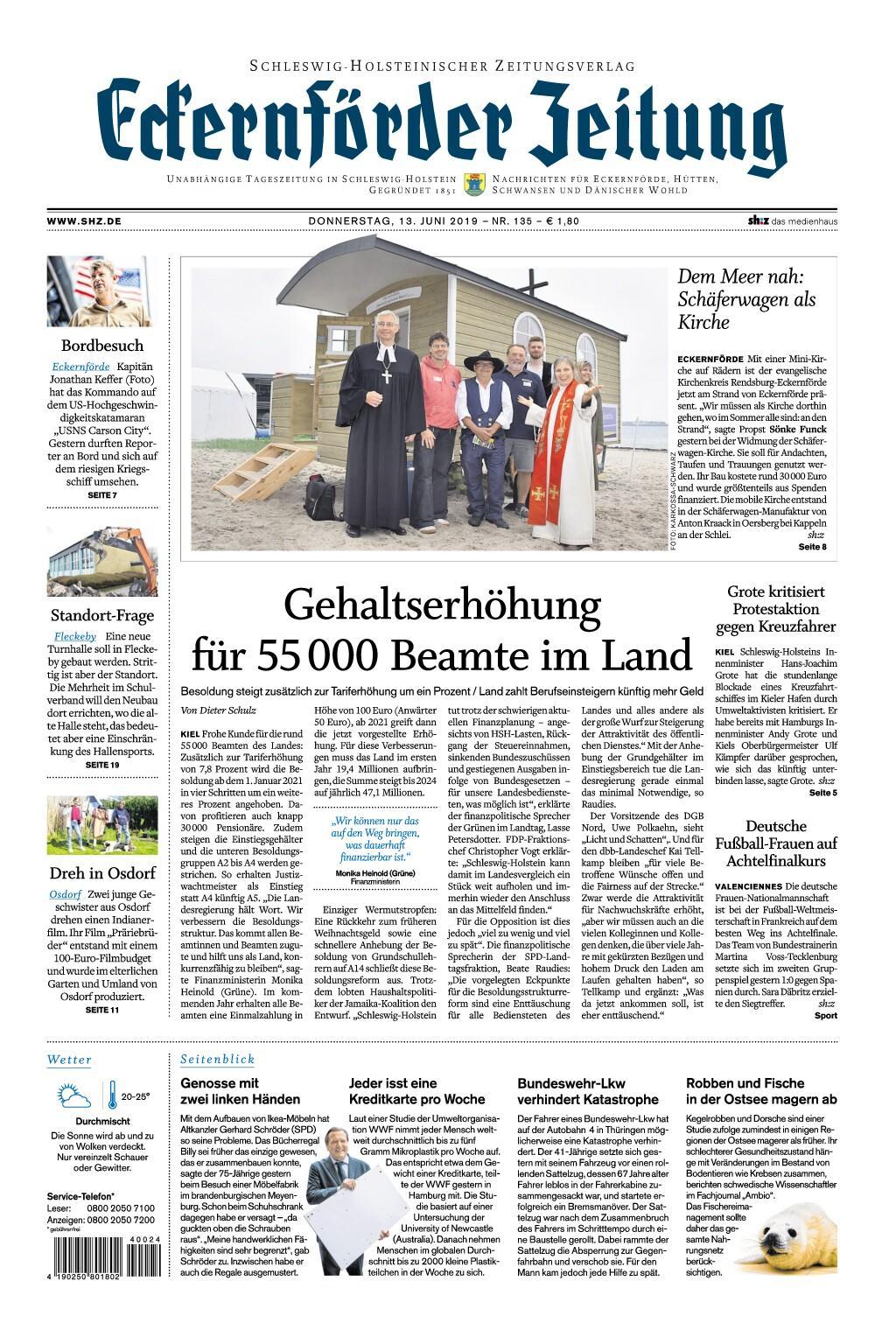 Eckernförder Zeitung - 13. Juni 2019