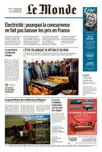 Le Monde du Dimanche 19 et Lundi 20 Août 2018