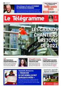 Le Télégramme Brest Abers Iroise – 03 janvier 2021
