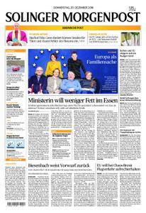 Solinger Morgenpost – 20. Dezember 2018
