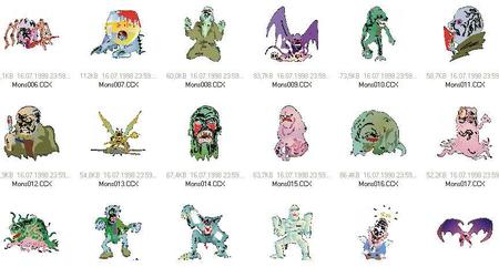 Vector clipart | Monsters