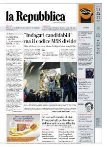 la Repubblica - 31 Dicembre 2017