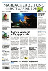 Marbacher Zeitung - 10. Oktober 2019