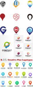 Vectors - Creative Pins Logotypes