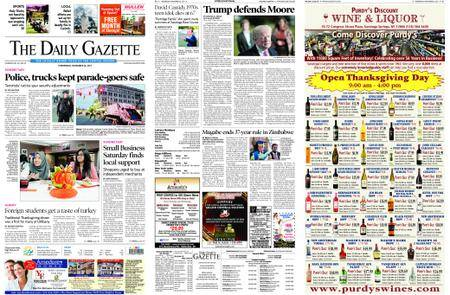 The Daily Gazette – November 22, 2017