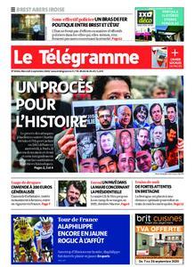 Le Télégramme Brest Abers Iroise – 02 septembre 2020