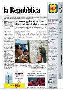 la Repubblica - 15 Luglio 2018