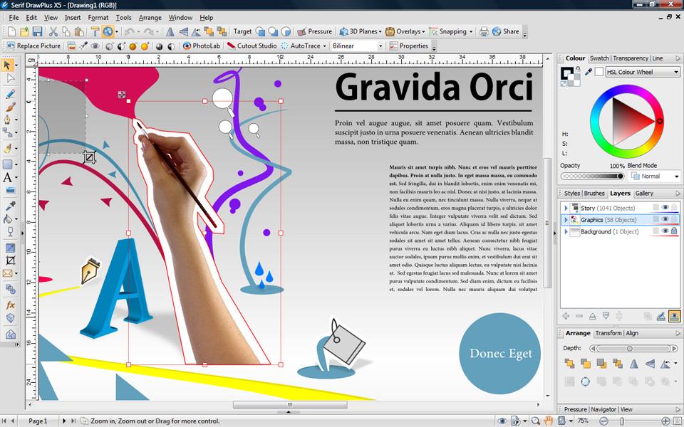 Serif DrawPlus X5 v12.0.0.17 Portable