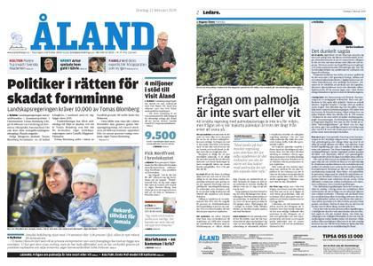 Ålandstidningen – 13 februari 2019