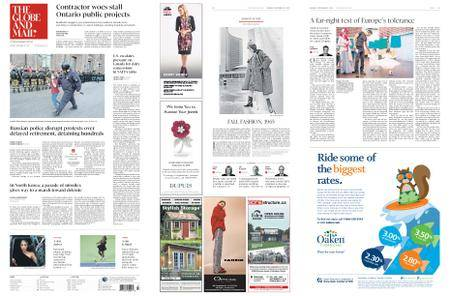 The Globe and Mail – September 10, 2018