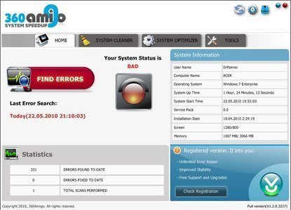 360Amigo System Speedup PRO 1.2.1.7000 Multilanguage Portable
