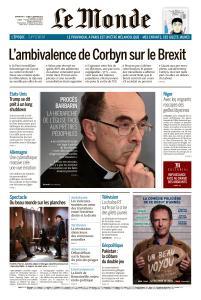 Le Monde du Dimanche 6 et Lundi 7 Janvier 2019