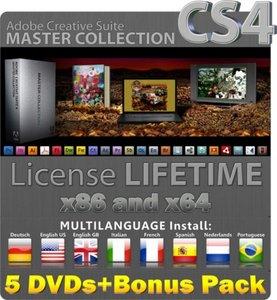Adobe Creative Suite Master Collection CS4 - 5DVDs + Bonus Pack (25.01.2010)