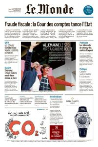 Le Monde du Mardi 3 Décembre 2019