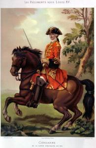Uniformes sous Louis XV
