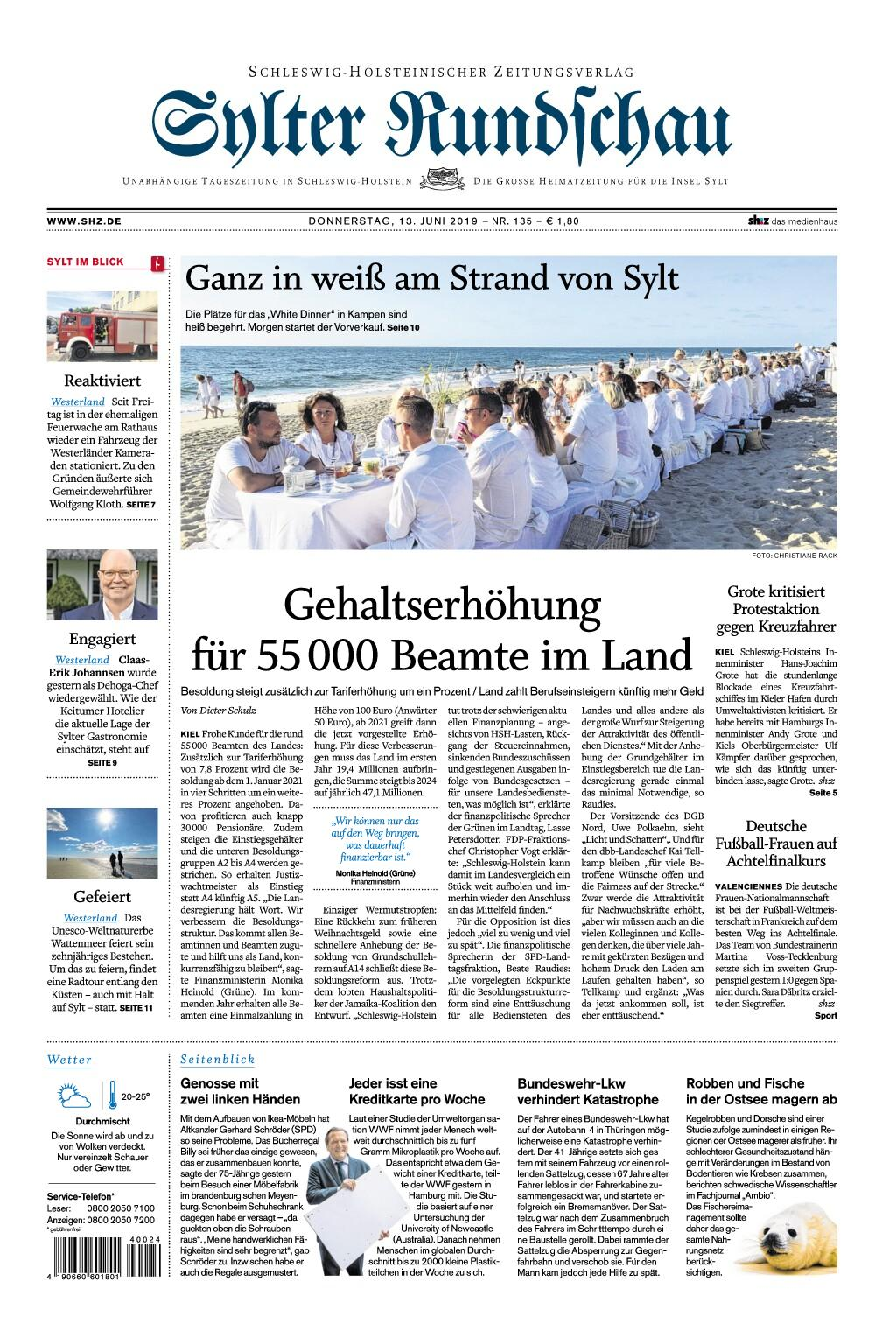 Sylter Rundschau - 13. Juni 2019