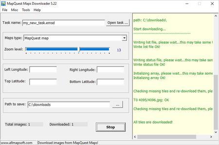 AllMapSoft Easy MapQuest Maps Downloader 5.22